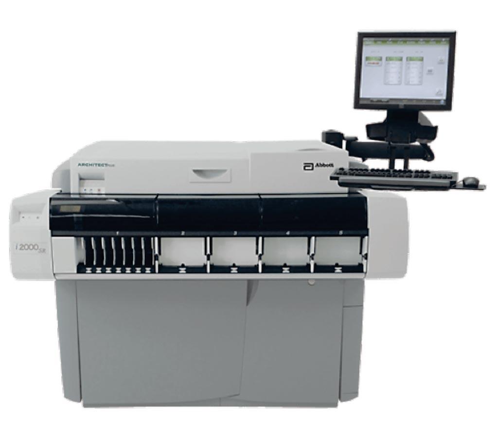 Imagen: El analizador de inmunoensayo ARCHITECT i2000SR (Fotografía cortesía de Abbott Diagnostics).