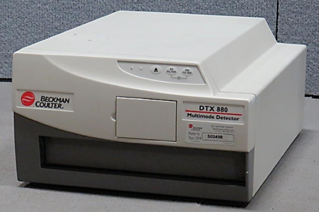 Imagen: El detector multimodal, DTX 880, y el lector de microplacas de fluorescencia (Fotografía cortesía de Beckman Coulter).