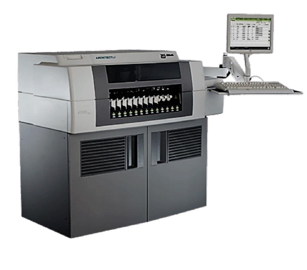 Imagen: El analizador de inmunoensayo ARCHITECT i1000SR utilizado para medir la troponina I de alta sensibilidad (Fotografía cortesía de Abbott Laboratories).