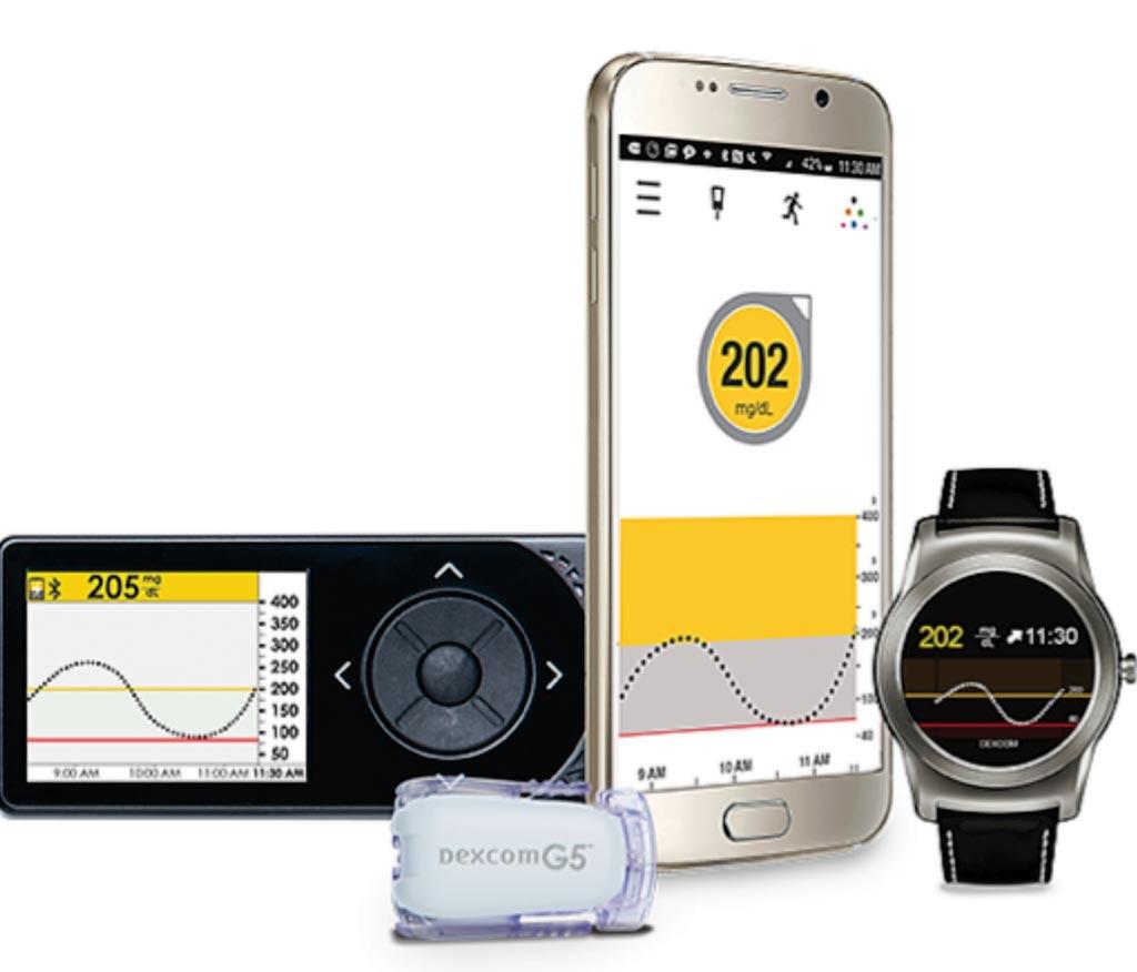 Imagen: El sistema de monitorización continuo de la glucosa (MCG) móvil G5 (Fotografía cortesía de Dexcom).