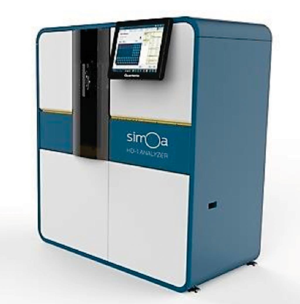 Imagen: La plataforma de inmunoensayo ultrasensible, Simoa 2.0, utilizada para medir tau en plasma y NfL en suero (Fotografía cortesía de Quanterix).