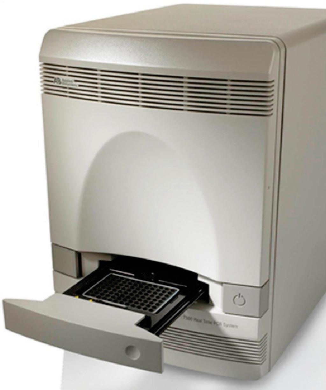 Imagen: El sistema de PCR en tiempo real, ABI 7300 (Fotografía cortesía de Applied Biosystems).
