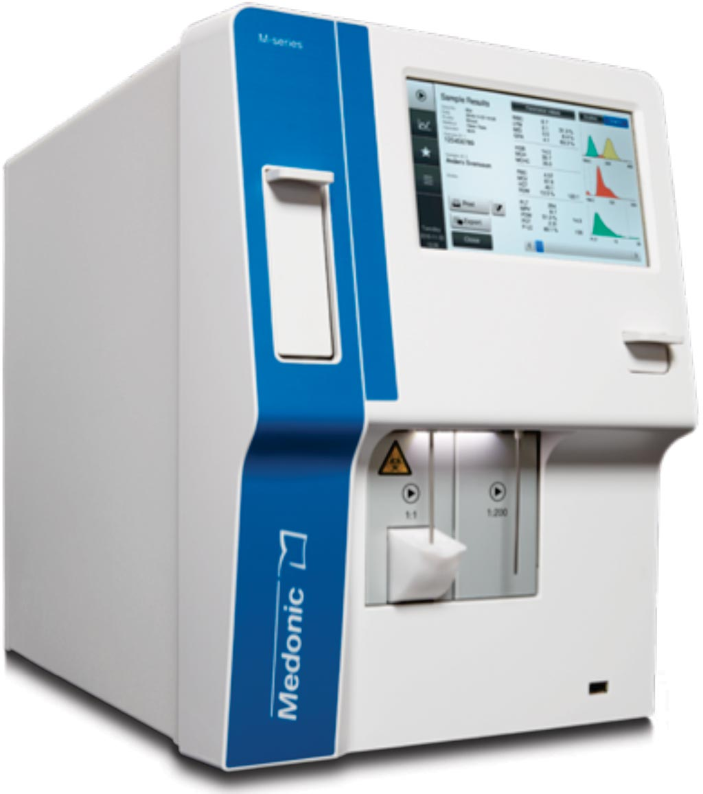 Imagen: El sistema de hematología Medonic M-series 32 (Fotografía cortesía de Boule Medical).