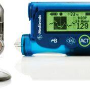 Imagen: El sistema de monitorización continua de la glucosa (CGM) (Fotografía cortesía de Medtronic).