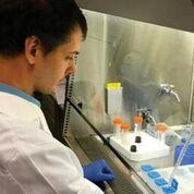 Imagen: Un científico ensamblando el cartucho de análisis que permite diferenciar el cáncer de los aspirados benignos en las lesiones mamarias mamográficamente sospechosas (Fotografía cortesía de Wanjun Ding).