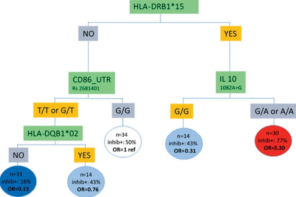 Imagen: Estratificación de riesgo integrando datos genéticos para el desarrollo de inhibidores del factor VIII en pacientes con hemofilia severa (Fotografía cortesía de la Universidad Paris-Saclay).