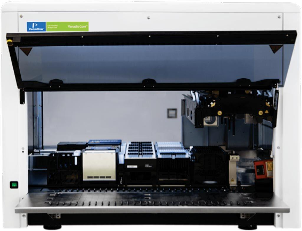 Imagen: La unidad de análisis de ADN Vanadis Core Libre de Células (Fotografía cortesía de PerkinElmer).