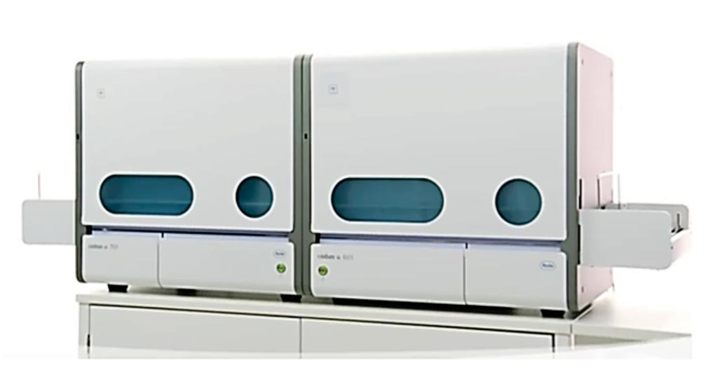 Imagen: El analizador de orina cobas 6500 es una solución de área de trabajo, totalmente automatizada, diseñada para laboratorios que procesan de 100 a 500 muestras de orina por día (Fotografía cortesía de Roche Diagnostics).