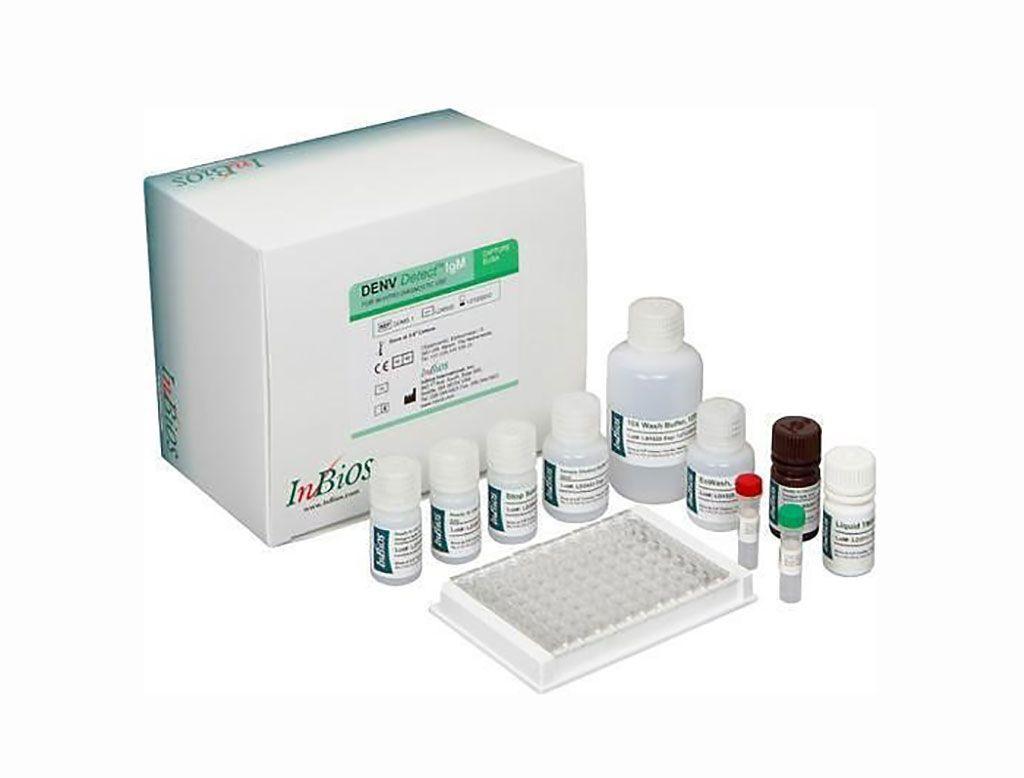 Imagen: El DENV Detect IgM Capture ELISA es un kit para la detección cualitativa de anticuerpos IgM contra antígenos recombinantes del DENV en suero para el diagnóstico presuntivo de laboratorio clínico de la infección por el virus del dengue (Fotografía cortesía de InBios International).