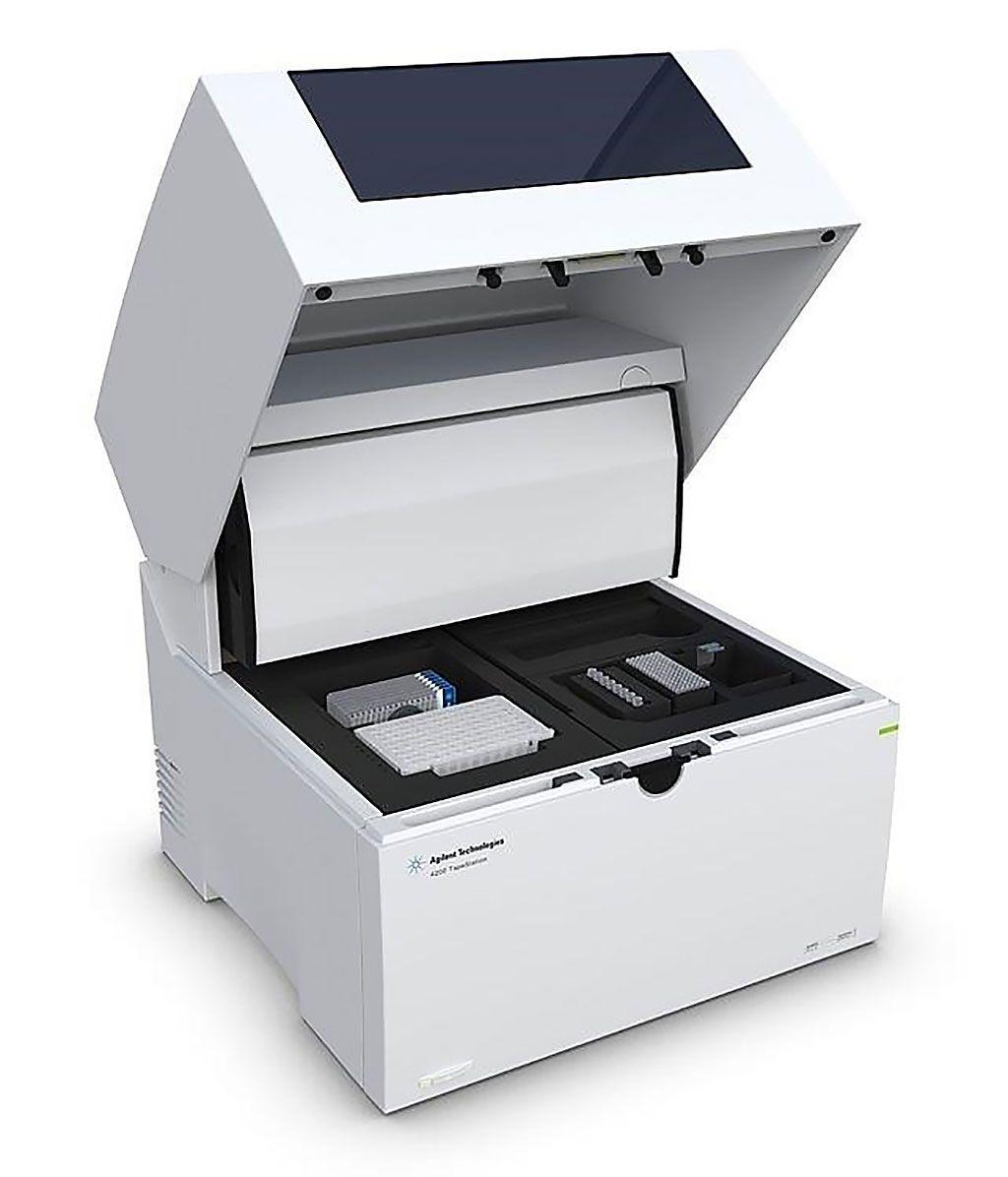 Imagen: El sistema Agilent 4200 TapeStation es una herramienta de electroforesis automatizada establecida para el control de calidad de las muestras de ADN y ARN (Fotografía cortesía de Agilent Technologies).