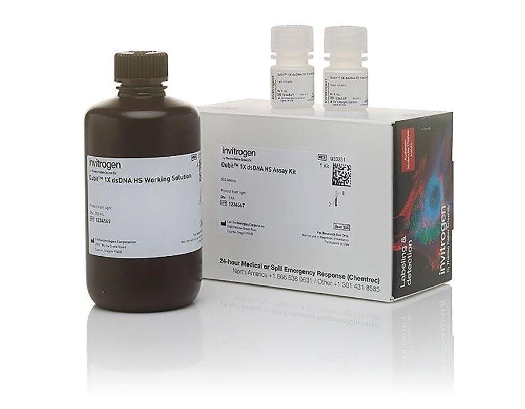 Imagen: El kit de análisis Invitrogen Qubit 1X dsDNA HS (Fotografía cortesía de Thermo Fisher Scientific).