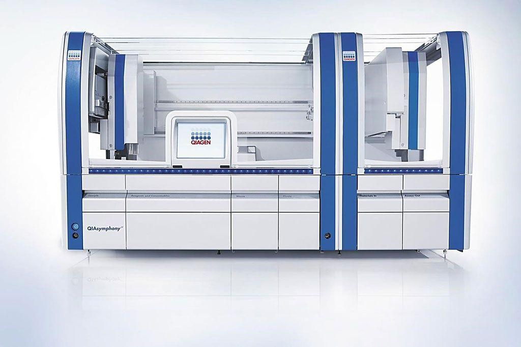 Imagen: La máquina QIAsymphony SP permite la preparación de muestras de ADN, ARN y ácidos nucleicos bacterianos y virales a partir de una amplia gama de materiales de partida (Fotografía cortesía de Qiagen).