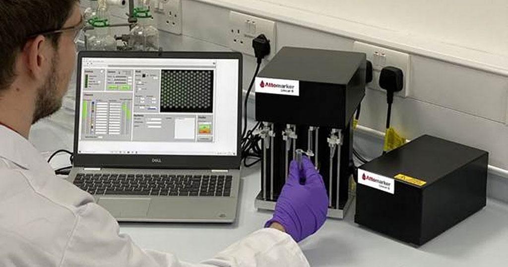 Imagen: La prueba de tres anticuerpos para la COVID-19 proporciona resultados estándar de laboratorio en solo siete minutos (Fotografía cortesía de Attomarker Ltd.)