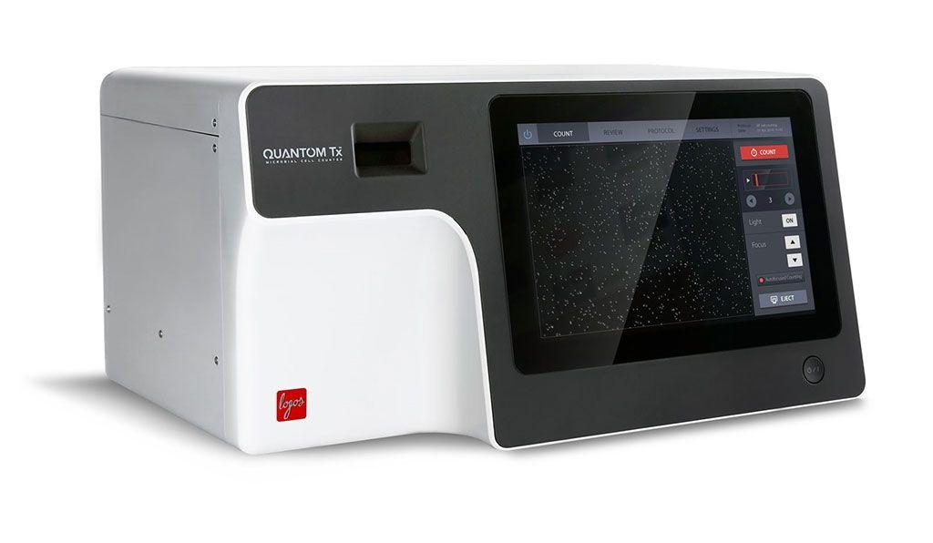 Imagen: El Contador de Células Microbianas QUANTOM Tx, es un contador automatizado de células basado en imágenes que puede identificar y contar las células bacterianas individuales en minutos (Fotografía cortesía de Logos Biosystems).
