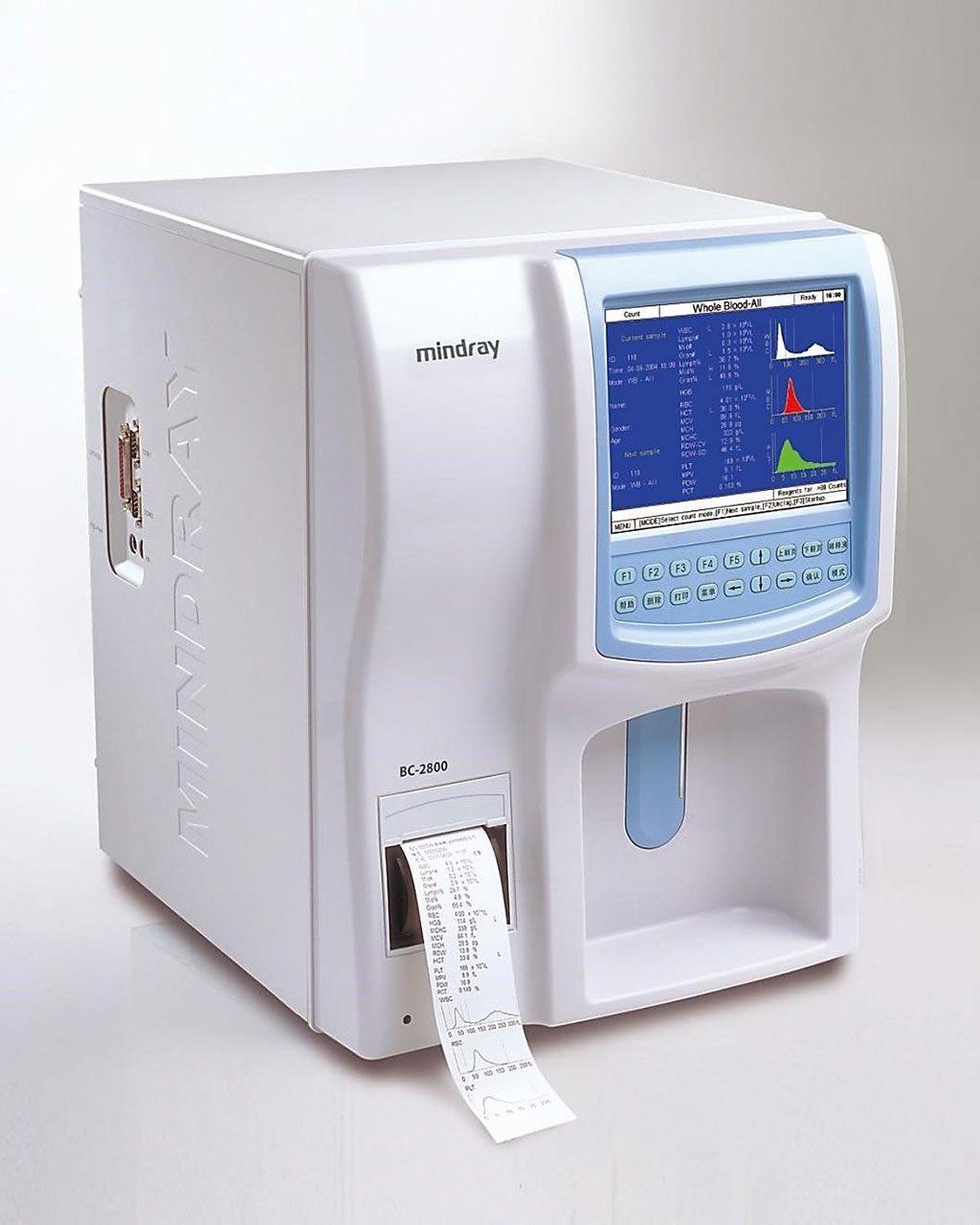 Imagen: El analizador de hematología, Mindray BC-2800, totalmente automático con 19 parámetros para el análisis de hemogramas para uso hospitalario (Fotografía cortesía de Mindray).