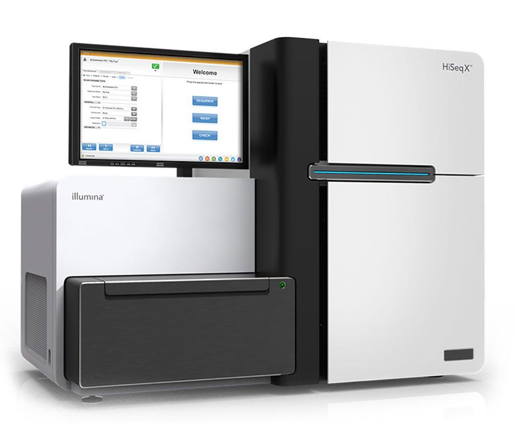 Imagen: El sistema de secuenciación del genoma completo humano HiSeq XTen (Fotografía cortesía de Illumina).