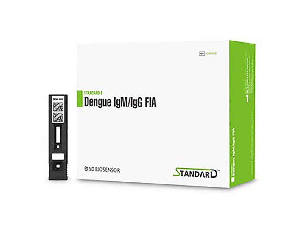 Imagen: La prueba STANDARD F Dengue IgM/IgG FIA analiza cualitativamente los anticuerpos IgM e IgG específicos del virus del dengue en suero, plasma y sangre total, con un inmunoensayo fluorescente (Fotografía cortesía de SD Biosensor).