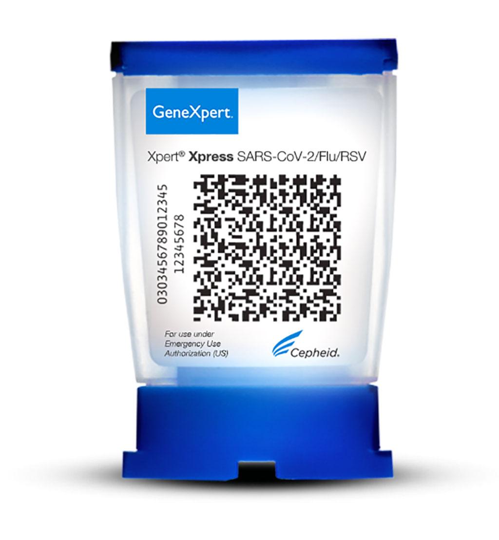 Imagen: La prueba combinada Xpert Xpress SARS-CoV-2, Flu A, Flu B y RSV (Fotografía cortesía de Cepheid)