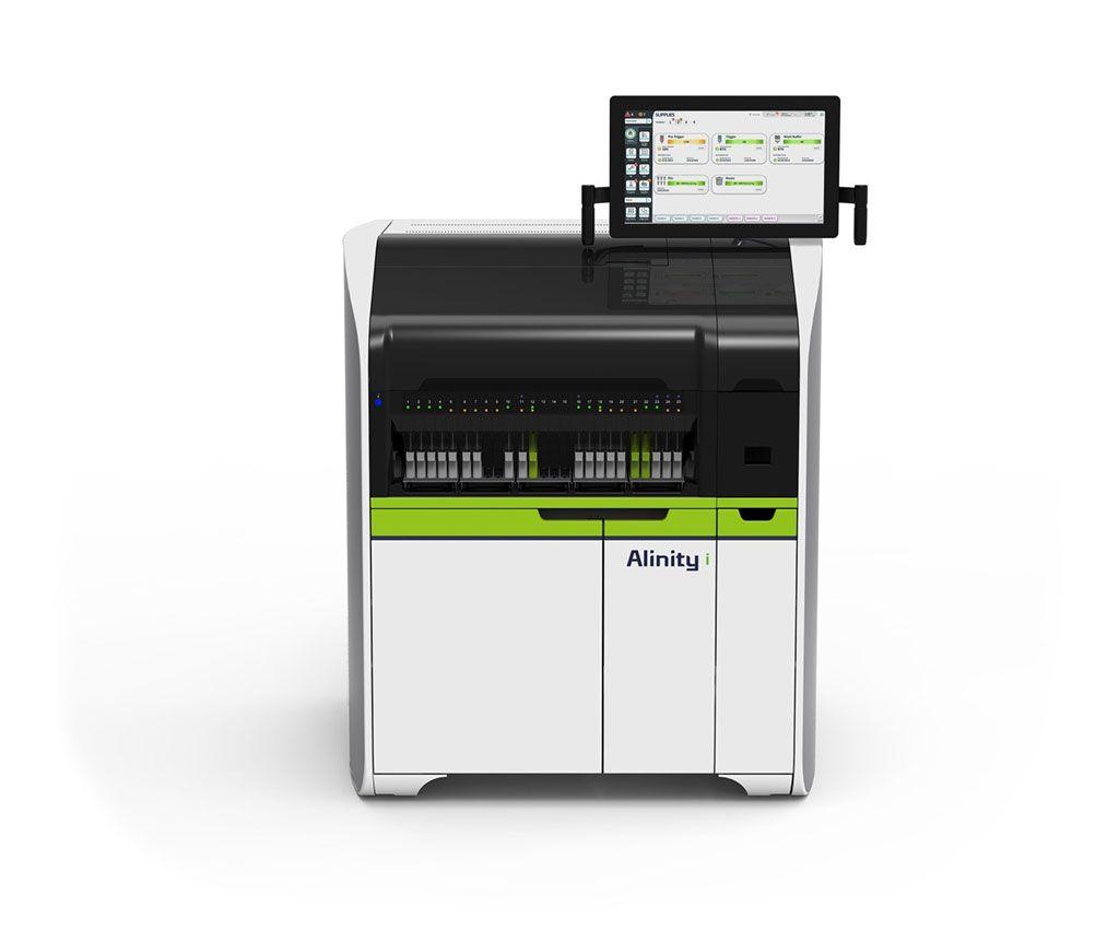 Imagen: El Alinity i es un sistema de inmunoensayo compacto que se puede utilizar de manera confiable para diagnosticar enfermedades infecciosas (Fotografía cortesía de Abbott Laboratories).