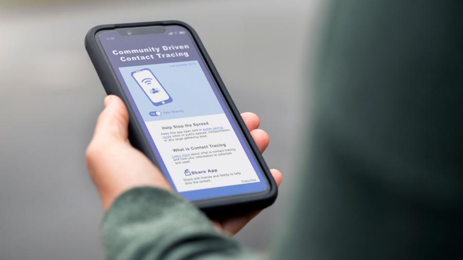 Imagen: Aplicación para el rastreo de contactos (Fotografía cortesía de Canva)