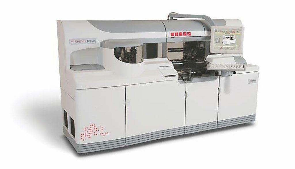 Imagen: El instrumento Ortho VITROS 5600 integra la química clínica y las pruebas de inmunoensayo (Fotografía cortesía de Ortho‐Clinical Diagnostic)