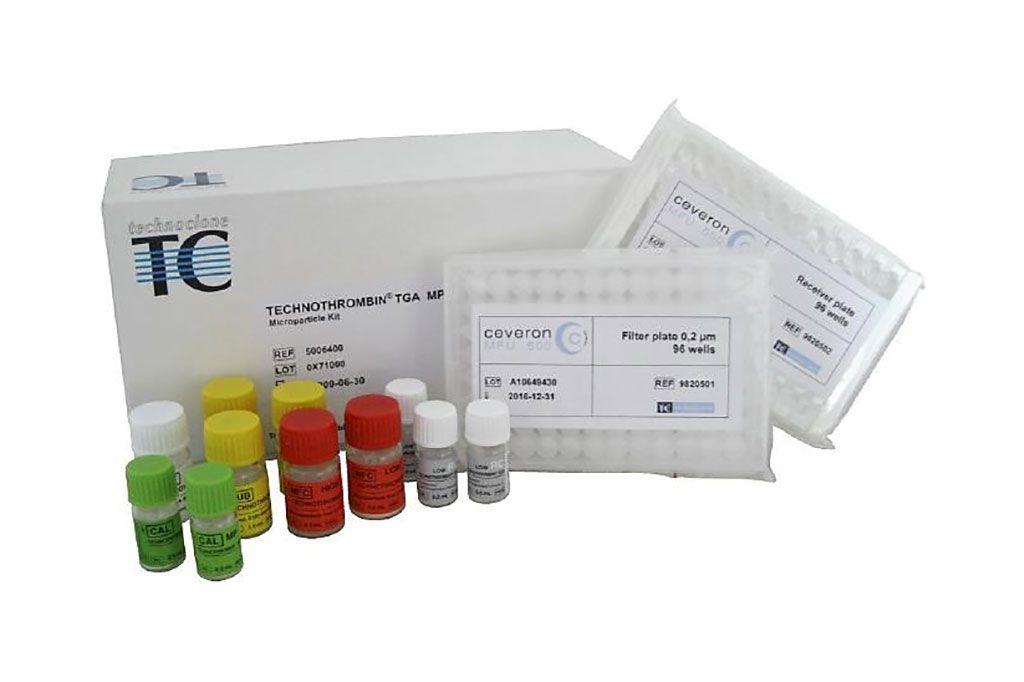 Imagen: El Technothrombin TGA es un ensayo de generación de trombina (TGA) basado en el seguimiento de la formación de trombina por medio de un sustrato fluorogénico tras la activación de la cascada de coagulación por el factor tisular (Fotografía cortesía de Technoclone).