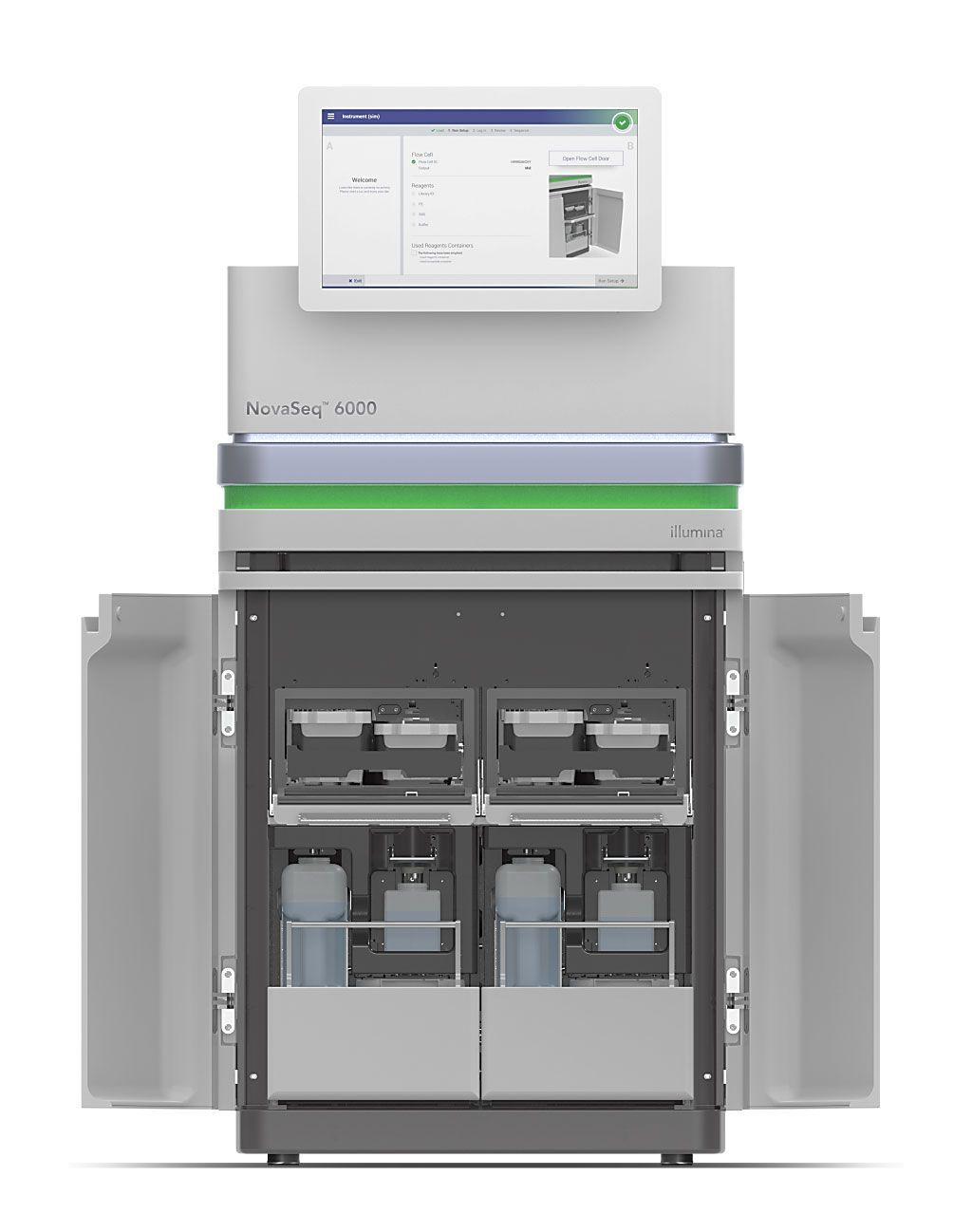 Imagen: El instrumento de secuenciación NovaSeq 6000 (Fotografía cortesía de Illumina)
