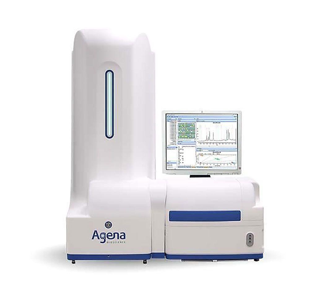 Imagen: El analizador MassARRAY Dx es un analizador genético multiplex de sobremesa que simplifica el entorno complejo de la genética clínica, con datos fáciles de interpretar, detección flexible de biomarcadores y desempeño robusto (Fotografía cortesía de Agena Biosciences)