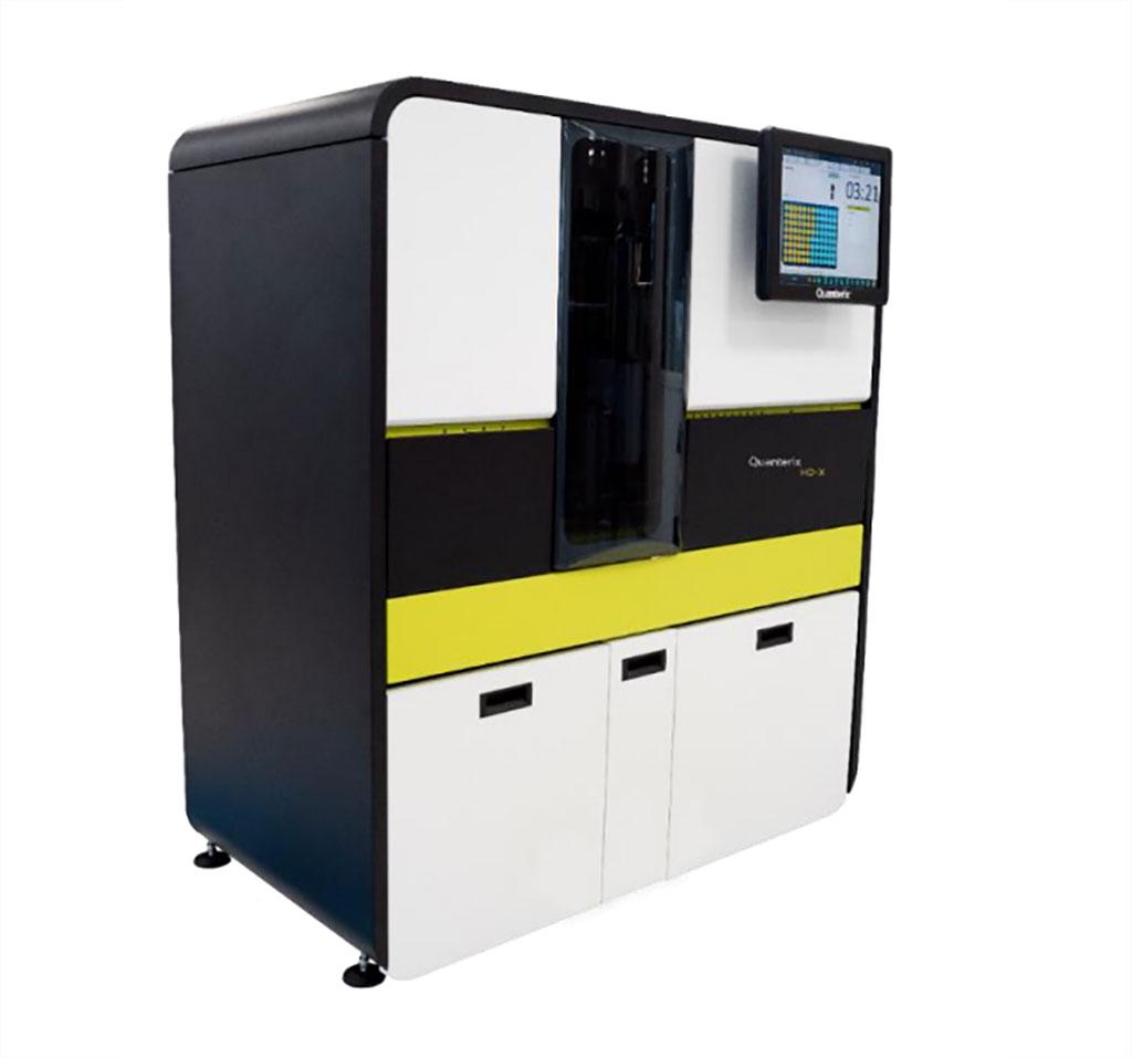 Imagen: El Analizador HD-X es el último modelo de la plataforma de inmunoensayo totalmente automatizada basada en perlas Simoa. (Fotografía cortesía de Quanterix)