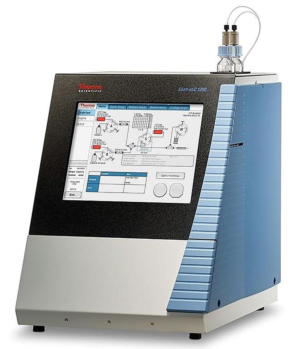 Imagen: El HPLC EASY-nLC 1200, con capacidad de alto rendimiento en un UHPLC de flujo nano (Fotografía cortesía de Thermo Fisher Scientific)