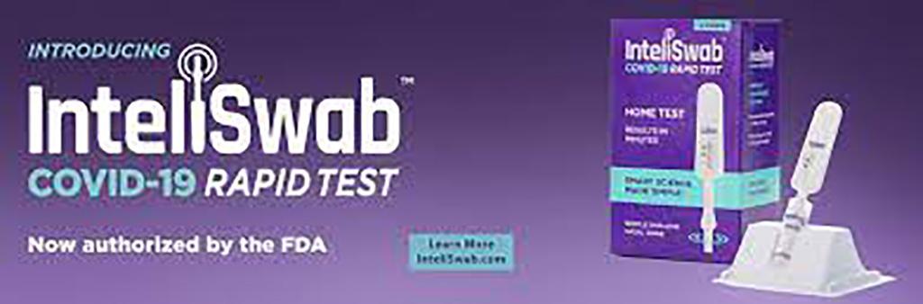 Imagen: Prueba rápida de antígeno InteliSwab COVID-19 (Fotografía cortesía de OraSure Technologies, Inc.)