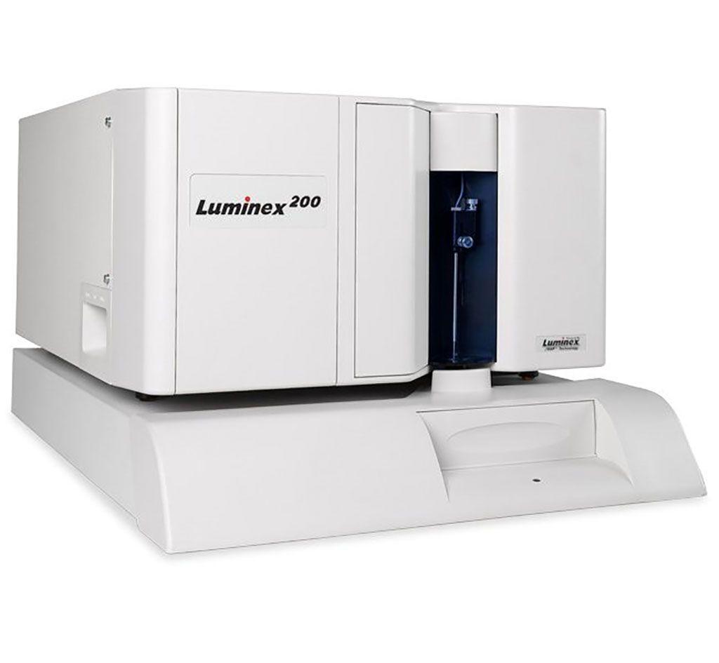 Imagen: El sistema de instrumentos Luminex200 establece el estándar para la multiplexación, proporcionando la capacidad de realizar hasta 100 pruebas diferentes en un solo volumen de reacción en un citómetro de flujo (Fotografías de Luminex Corporation)