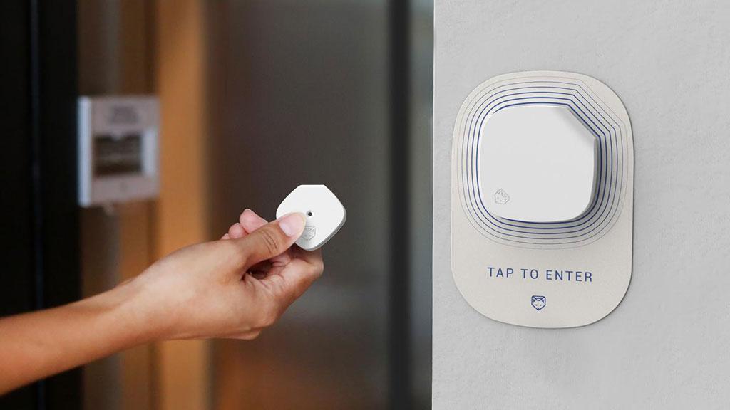Imagen: El sensor Soterius Scout puede detectar la COVID-19 incluso si alguien está asintomático, para proporcionar el visto bueno para que alguien ingrese a su entorno de trabajo (Fotografía cortesía de Soterius)