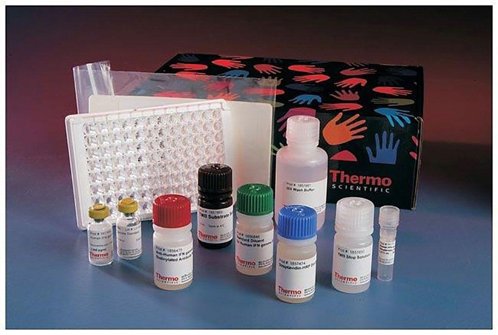 Imagen: El kit de ELISA de EGF humano de Invitrogen mide los niveles del factor de crecimiento epidérmico (EGF) en suero, plasma y sobrenadante de cultivo celular humanos, utilizando placas de 96 pozos (Fotografía cortesía de Thermo Fisher Scientific)