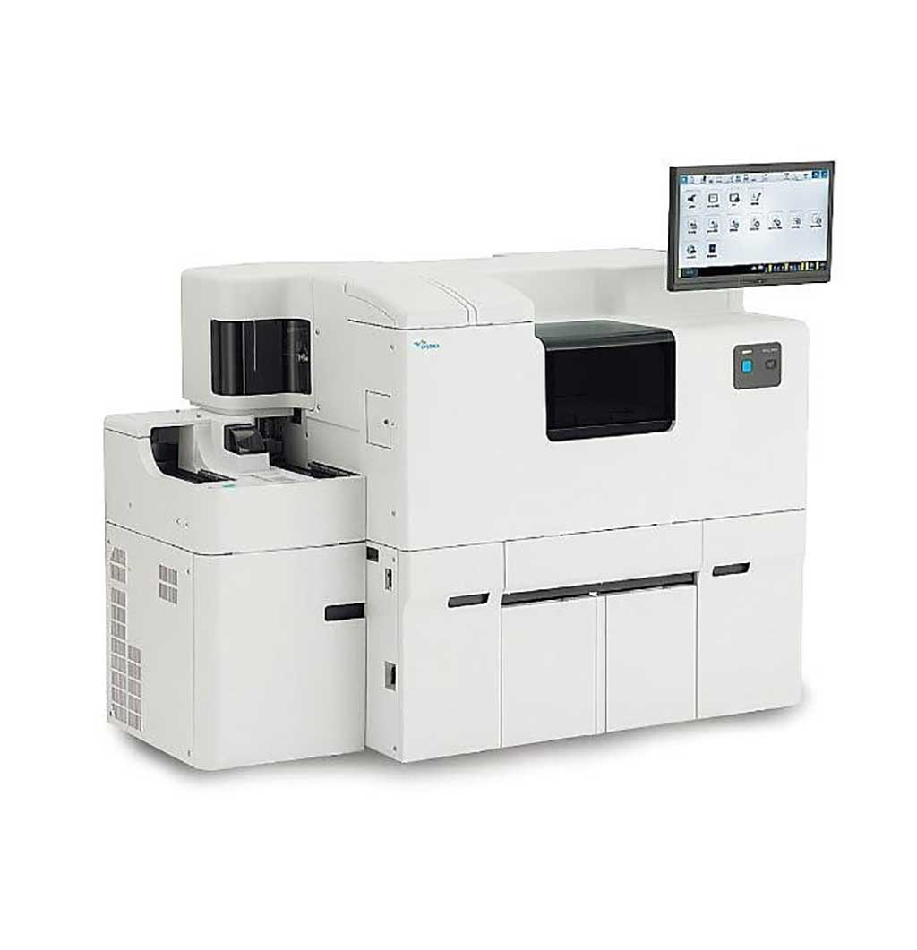 Imagen: El HISCL-5000 es un sistema de inmunoensayo completamente automatizado diseñado para pruebas de inmunoensayo rápidas, altamente sensibles y confiables (Fotografía cortesía de Sysmex)