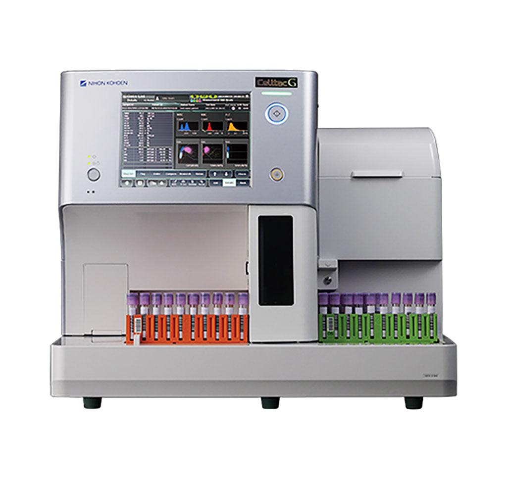 Imagen: El analizador de hematología Celltac G completamente automático de 33 parámetros (Fotografía cortesía de Nihon Kohden)