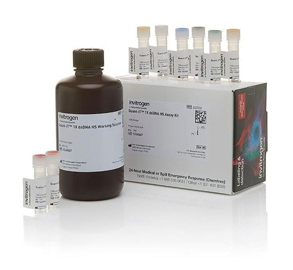 Imagen: El kit de ensayo Quant-iT 1X dsDNA HS (alta sensibilidad) diseñado para que la cuantificación del ADN sea fácil y exacta. El ensayo es altamente selectivo para ADN bicatenario (dsADN) con respecto al ARN (Fotografía cortesía de Thermo Fisher Scientific)
