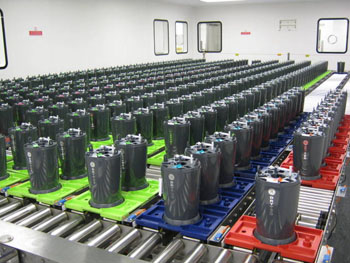 Imagen: Una habitación llena de generadores Drytec (Fotografía cortesía de GE Healthcare).