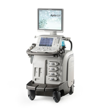 Imagen: El sistema para Ecografía Aplio 500 Platino (Fotografía cortesía de Toshiba Medical Systems).