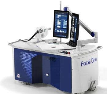 Imagen: El dispositivo, asistido por robot Focal One HIFU (Fotografía cortesía de EDAP TMS).