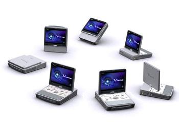Imagen: El sistema portátil para ultrasonido Viamo (Fotografía cortesía de Toshiba Medical Systems).