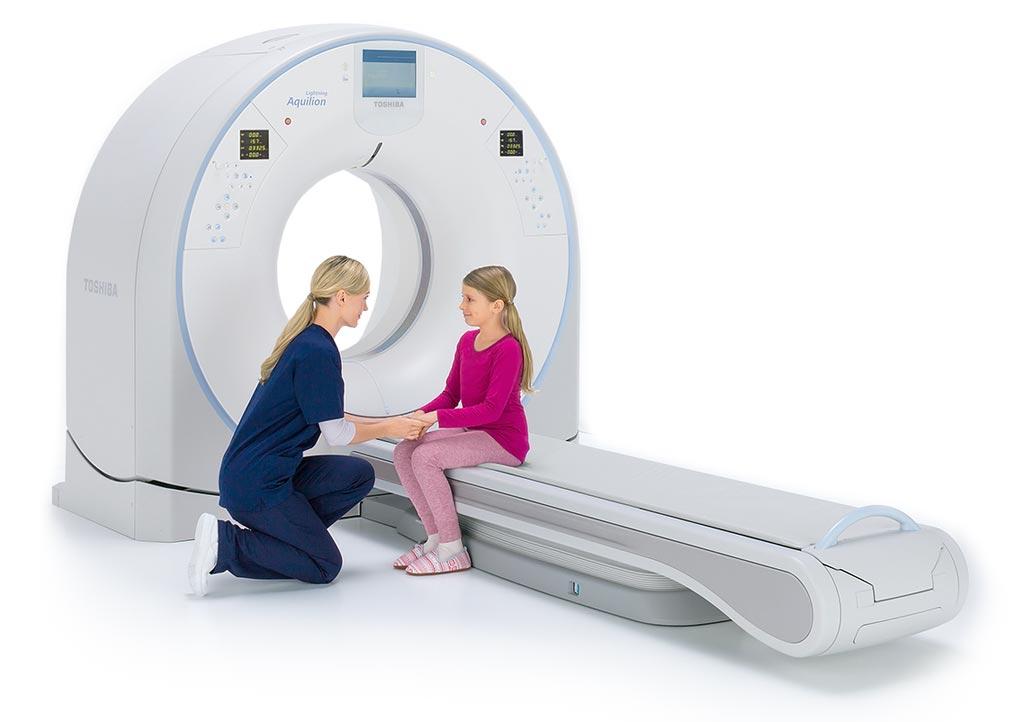 Imagen: El sistema de TC Aquilion Lightning 80 CT (Fotografía cortesía de Toshiba Medical Systems).
