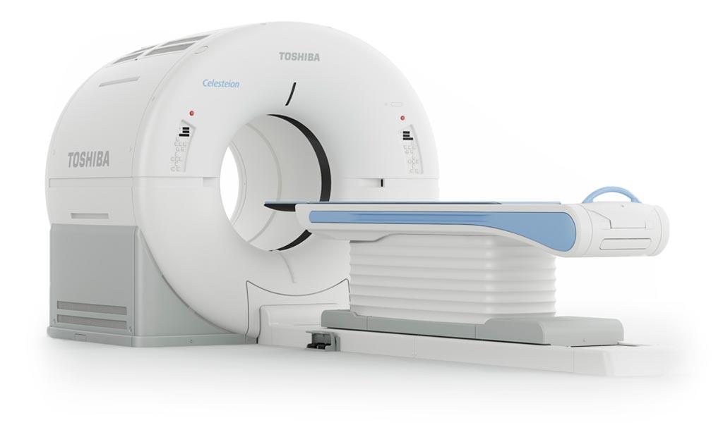 Imagen: El sistema Celesteion PUREViSION Edition PET/CT (Fotografía cortesía de Toshiba Medical Systems).