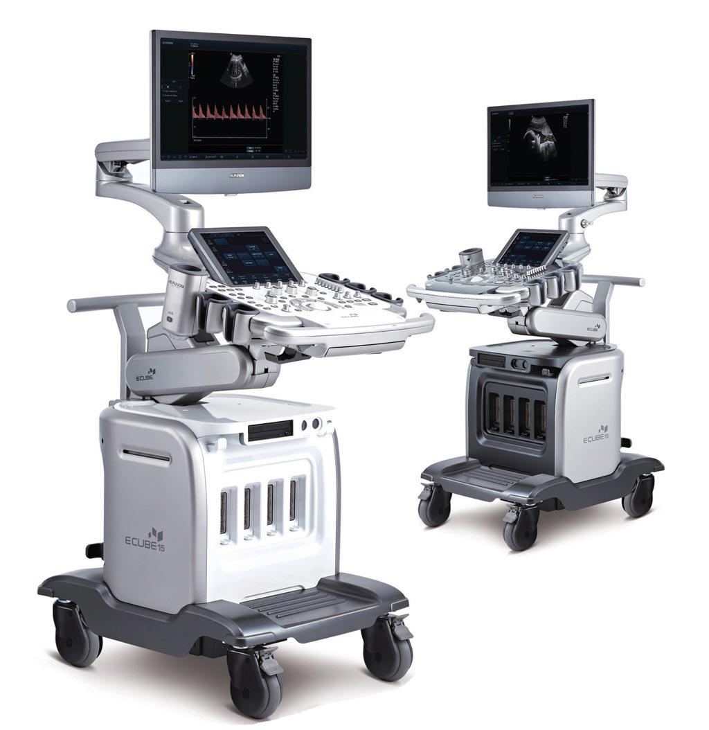 Imagen: El nuevo sistema de diagnóstico por ultrasonido, de alto rendimiento, E-Cube 15 Platinum (Fotografía cortesía de Alpinion Medical Systems).