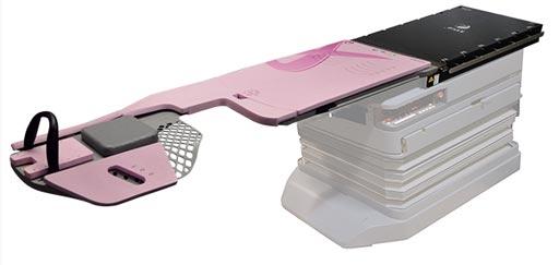 Imagen: El inserto de mama QFix kVue Access 360 G2 Prone con acceso supraclavicular expandido (Fotografía cortesía de Qfix).