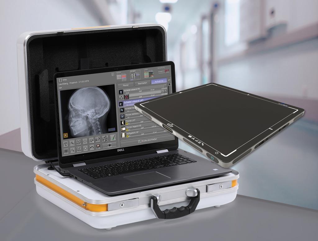Imagen: La maleta portátil de rayos-X, Leonardo DR mini (Fotografía cortesía de OR Technology).