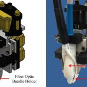 Imagen: Un soporte de sonda fotoacústica motorizada ayuda a mejorar la profundidad de penetración de luz y la SNR (Fotografía cortesía de la Fundación de Investigación Purdue).