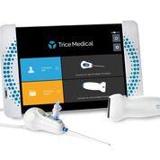Imagen: La plataforma de imagenología dinámica, Trice, con mi-eye, mi-ultra y mi-tablet (Fotografía cortesía de Trice Medical).