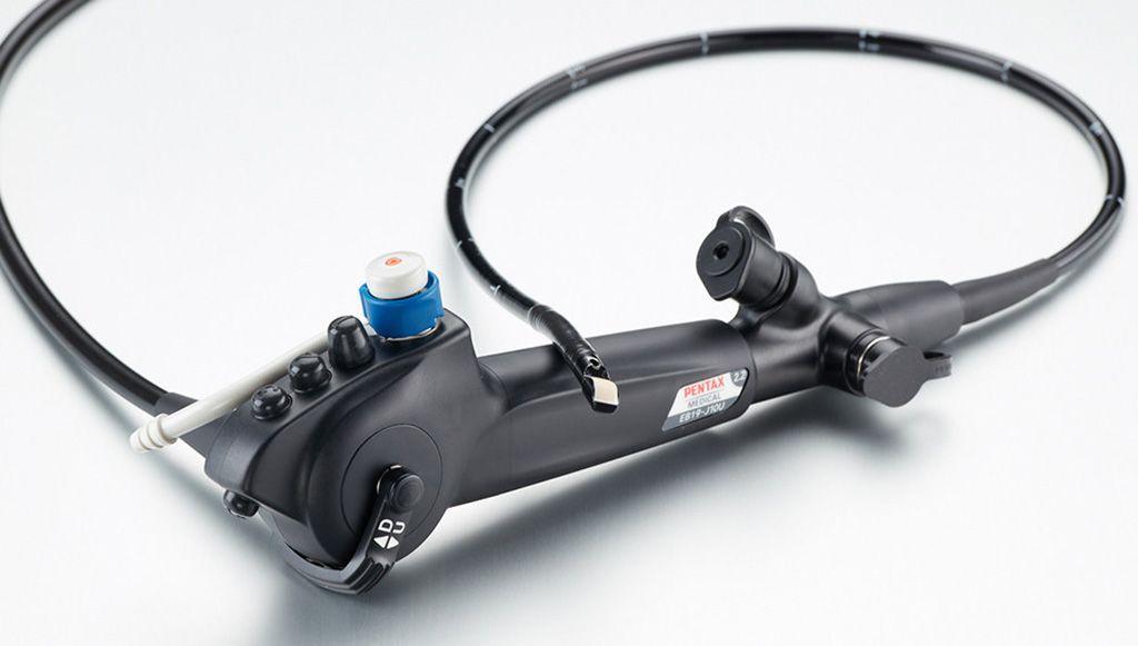 Imagen: El endoscopio endobronquial con ultrasonido EB19-J10U (Fotografía cortesía de Pentax Medical)