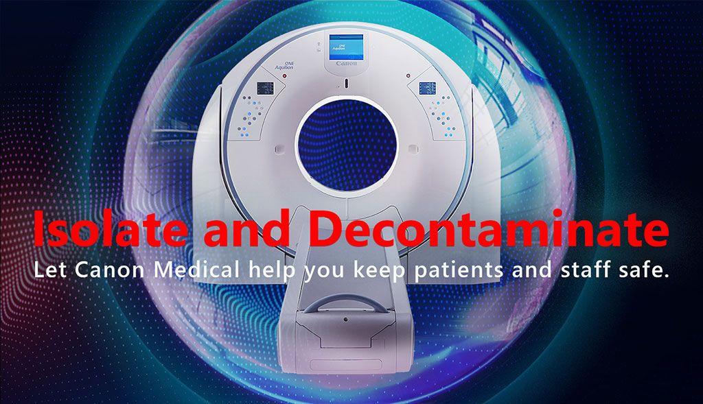 Imagen: El sistema Aquilion Prime SP CT con descontaminación UV-C (Fotografía cortesía de Canon Medical Systems)